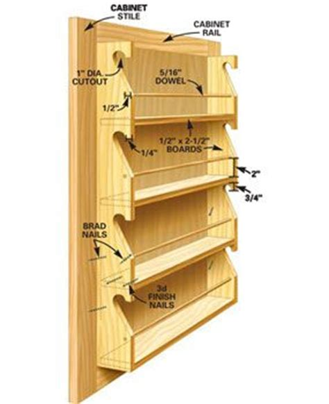 Cabinet Door Spice Rack Plans Diy Spice Rack Building Ideas Diy