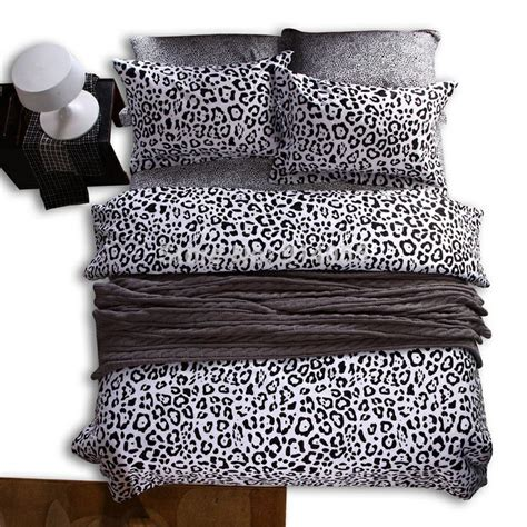 black cheetah comforter reactive twill printed classic black and white leopard