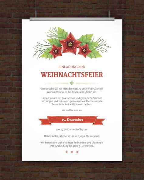 Muster Einladung Firma Drucke Selbst Vorlage Weihnachtsfeiereinladung