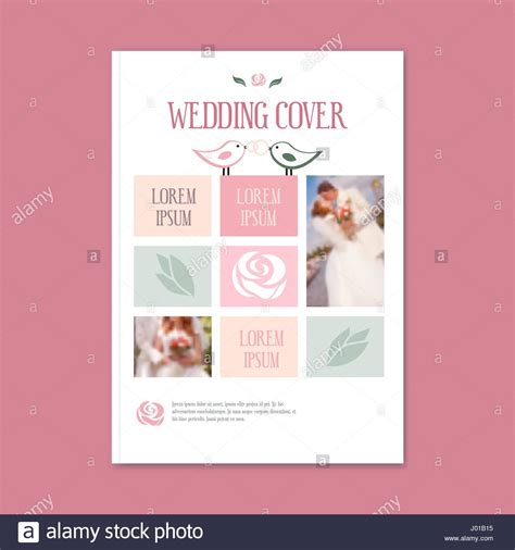 wedding brochure layout vector wedding template cover booklet the cover of the