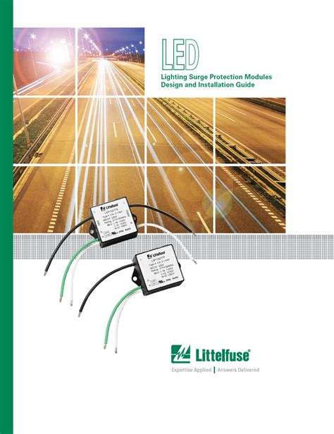 led lighting surge protection modules design and