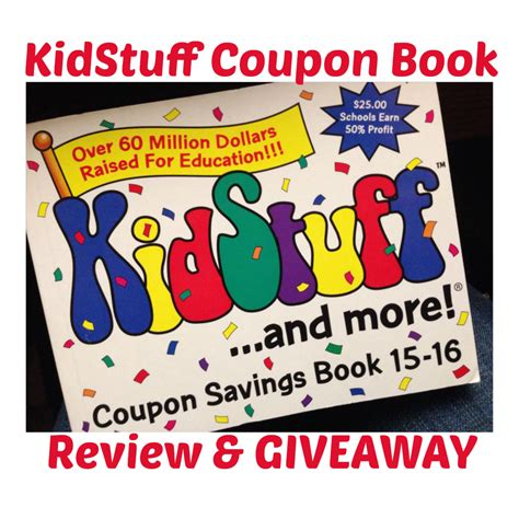 Coupon Giveaway - winners announced kidstuff coupon book giveaway