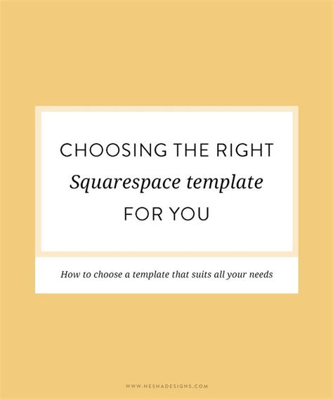 Choosing The Right Squarespace Template Encore Squarespace Template