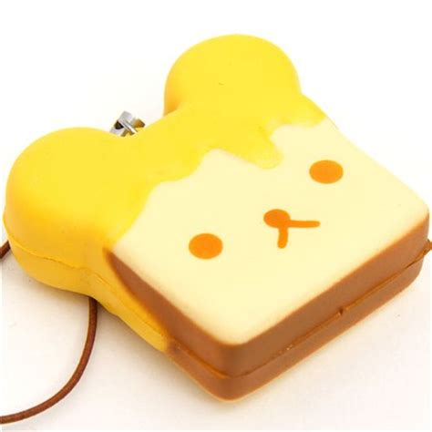 Cheap Cutlery Sets by Rilakkuma Meets Honey Toast Squishy Cellphone Charm Food