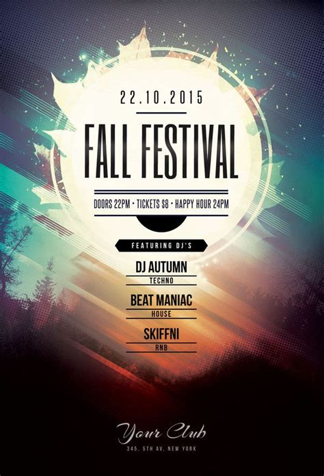 ad design layout ideas fall festival flyer by stylewish buy psd file 9