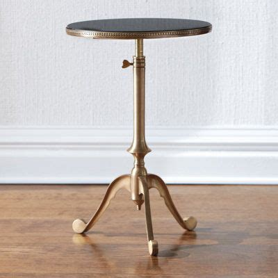 telescoping table cool solid brass telescoping table with granite top
