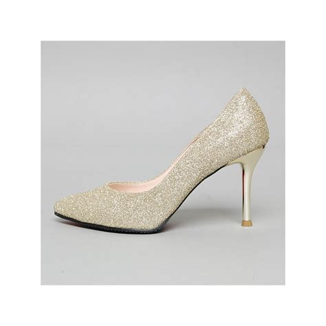 silver glitter high heel pumps pointed toe glitter high heel pumps us5 5 us10