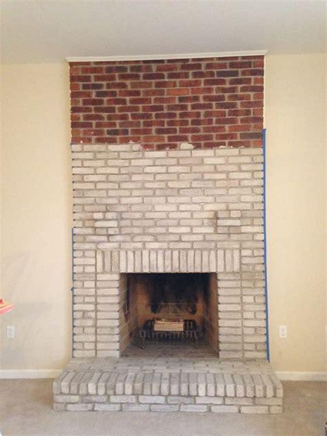 whitewashing brick fireplace the world s catalog of ideas