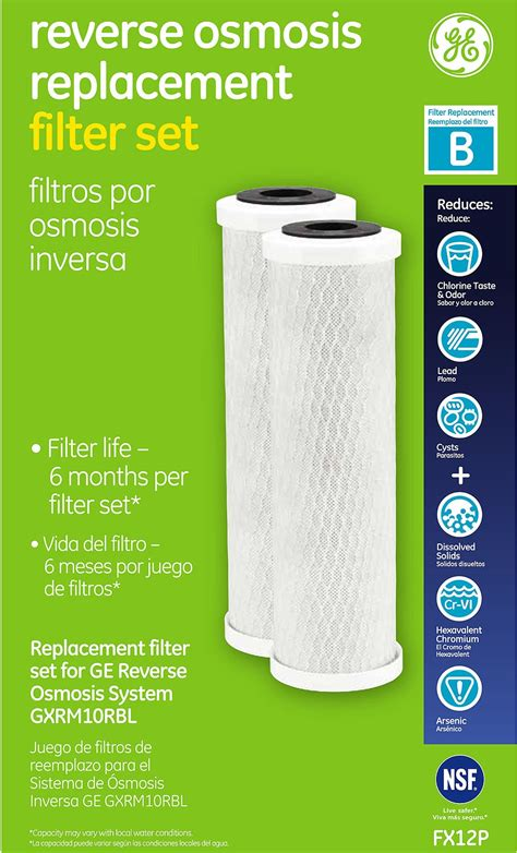 GE Reverse Osmosis Replacement Filter Set   FX12P