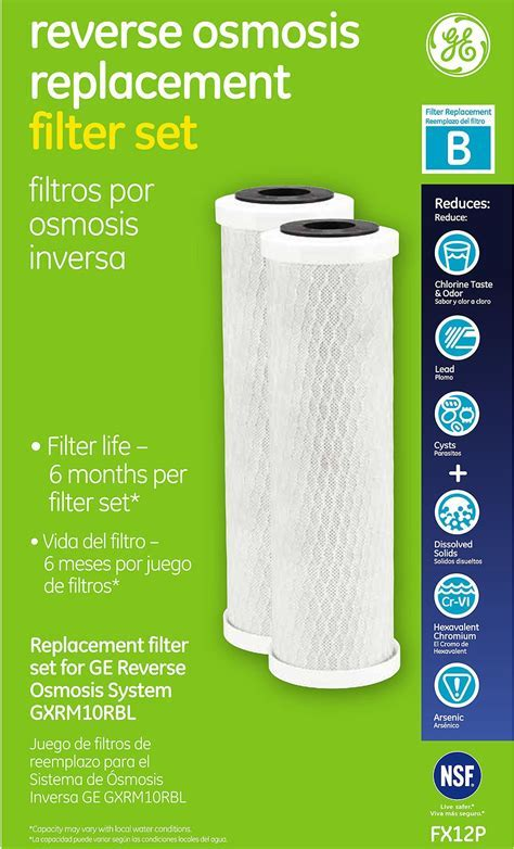 GE Reverse Osmosis Replacement Filter Set   FX12P