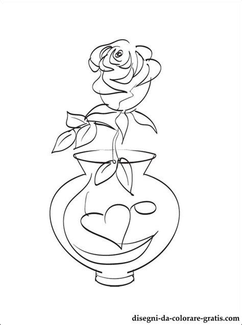 disegno vaso di fiori disegni di vaso di fiori da colorare disegni da colorare