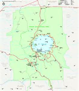 crater lake national park official map crater lake