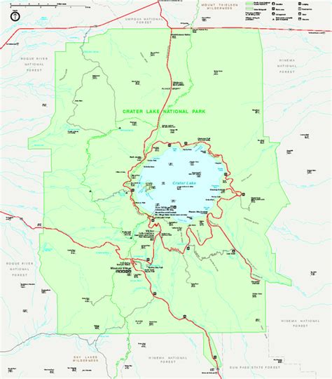 map of crater lake oregon crater lake national park official map crater lake