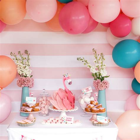 background decoration for birthday party at home flamingo birthday party backdrop decoration flamingo