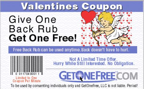 get one free get one free back rub coupon
