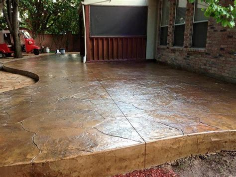 Brown Kitchens Designs Transform Your Patio With Stamped Concrete Starr Exteriors