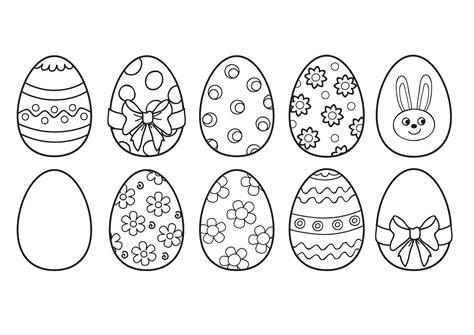 huevos con caritas para colorear dibujos de huevos de pascua para colorear hogarmania