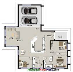 3 bedroom huge living area real estate house plans double