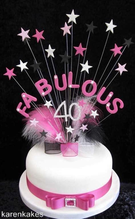 fabulous  birthday cake topper big  beautiful pink black  white karenkakes happy