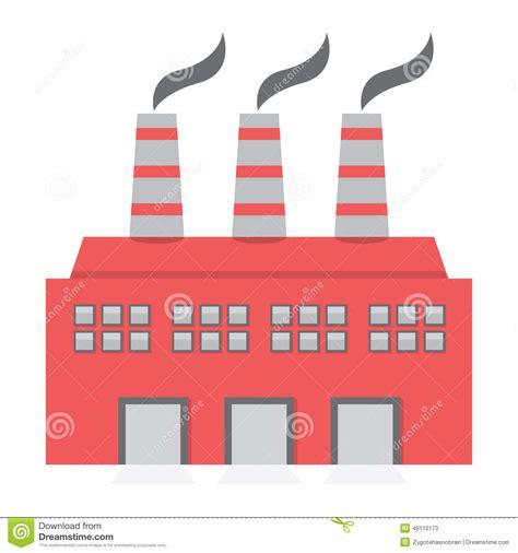 design icon factory single factory building flat design stock vector image