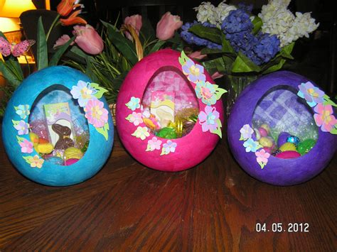 Paper Mache Craft Ideas - paper mache easter baskets southern cricut