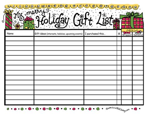 Holiday Gift List Printable Free Printable Available Here Flickr Printable Gift List Template