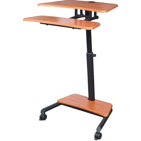Balt Up Rite Mobile Workstation With Adjustable Sit Stand Mobile Standing Desk