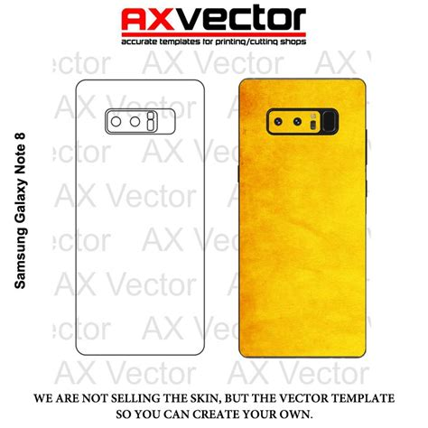 Note 8 Skin Template Samsung Galaxy Note 8 Vector Template Contour Cut