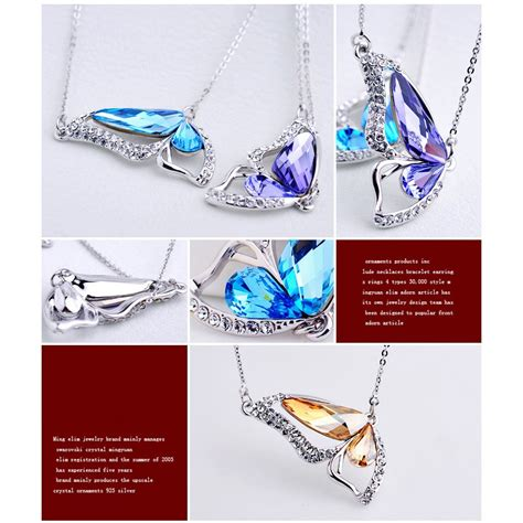 Kalung Fashion Choker Butterfly Rcf55c butterfly wings of necklace kalung wanita blue jakartanotebook
