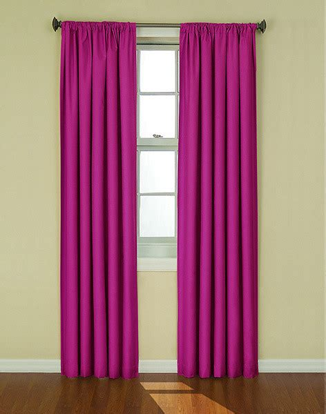 magenta curtain panels love this magenta color of curtains