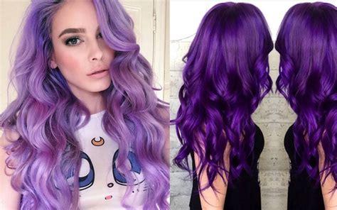 dye hair purple  blonde black  brown