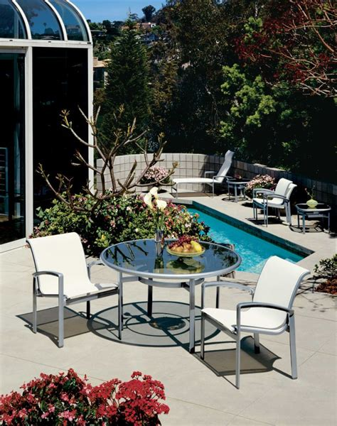Tropitone Patio Chairs by Opus Sling Dining Chairs By Tropitone 174 Poolside Chic