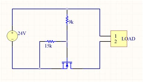 resistor mosfet divider resistors voltage circuit protection using an n channel mosfet electrical