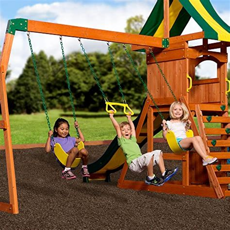 weston cedar swing set backyard discovery weston all cedar wood playset swing set