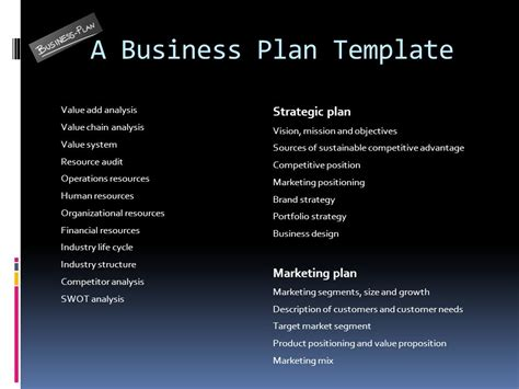 viable business plan format 1 the business plan ppt video online download