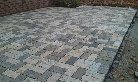 Wavy Rectangle Granite Pavers Traditional Patio Granite Patio Pavers