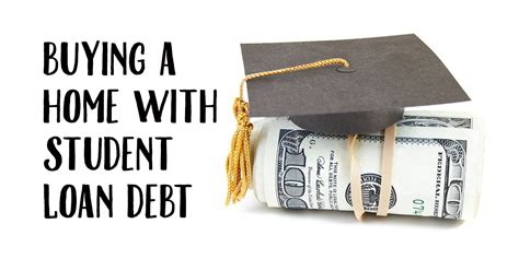 buying a house mortgage buying a home with student loan debt