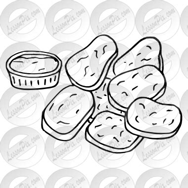 coloring pages of chicken nuggets chicken nuggets clipart many interesting cliparts