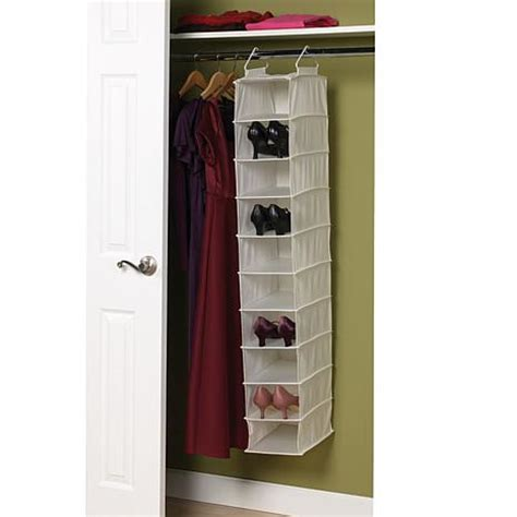 Plastic Shelf Organizer by 10 Shelf Canvas Organizer With Plastic Shelves 6461202 Hsn