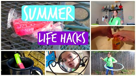 diy hacks youtube diy summer life hacks youtube