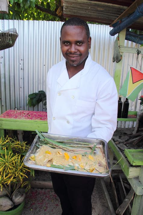 the backyard chef at home in the backyard caf 233 stabroek news