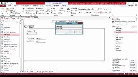 Ms Access Employee Database Sle Download Hardhost Info Microsoft Access Employee Database Template Free