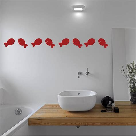 fish bathroom wall stickers by mirrorin