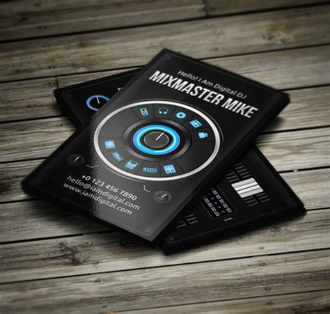 Free Psd Dj Business Card Templates free dj business card template amazing dj business cards