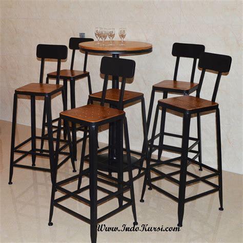 Kursi Cafe Bar kursi bar kayu jati kerangka besi minimalis indo kursi mebel indo kursi mebel