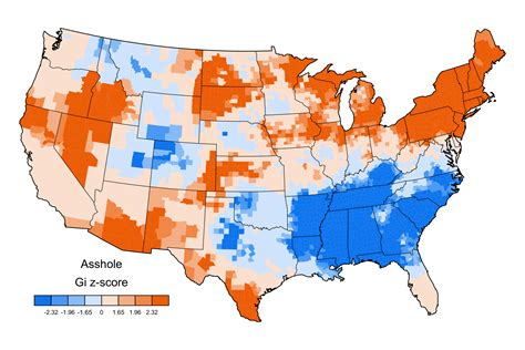 u of a cus map most popular curse words in america business insider