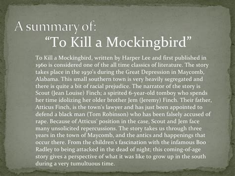 book report on to kill a mockingbird book report in to kill a mockingbird