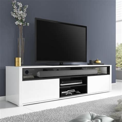 Savannah Dining Chairs by Evoque White High Gloss Tv Unit With Soundbar Shelf