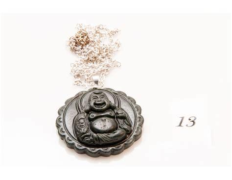 Black Jade Carved black jade carved buddha pendant necklace
