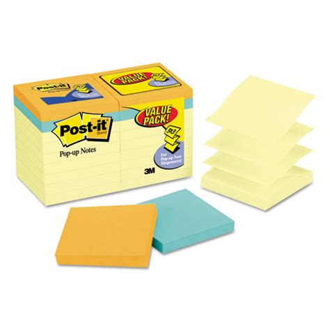 Paper Ink Stick Label Post Its Memo Tempel Kecil post it pop up notes original pop up notes value pack 3 x 3 canary cape town 100 sheet 18 pack